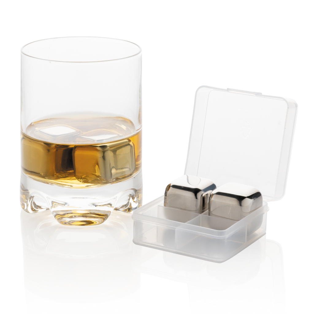Re-usable stainless steel ice cubes 4pc