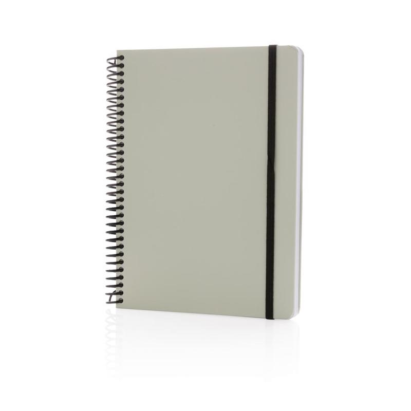 Deluxe A5 notebook with spiral ring
