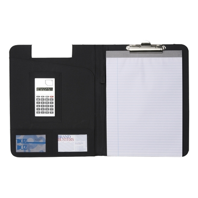 Clipboard, conference folder, notebook A4 (lined sheets) and calculator