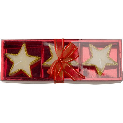Star shaped candles set