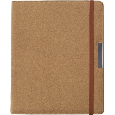 Cork conference folder A4 with notebook