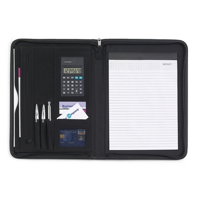 Conference folder A4 with notebook and calculator