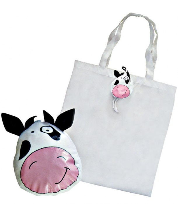FOLDABLE SHOPPING BAG COW