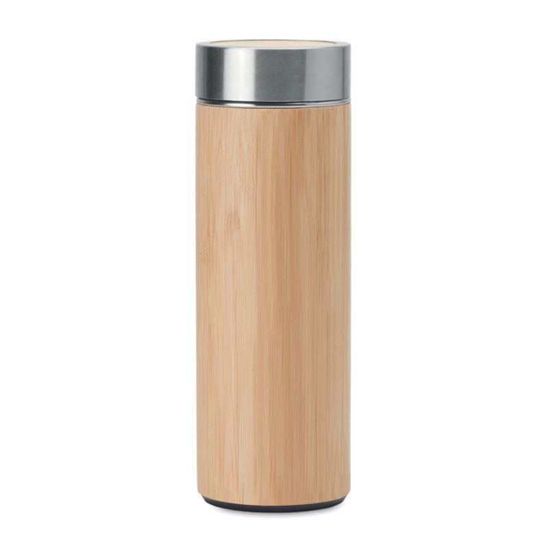 Double wall bamboo flask
