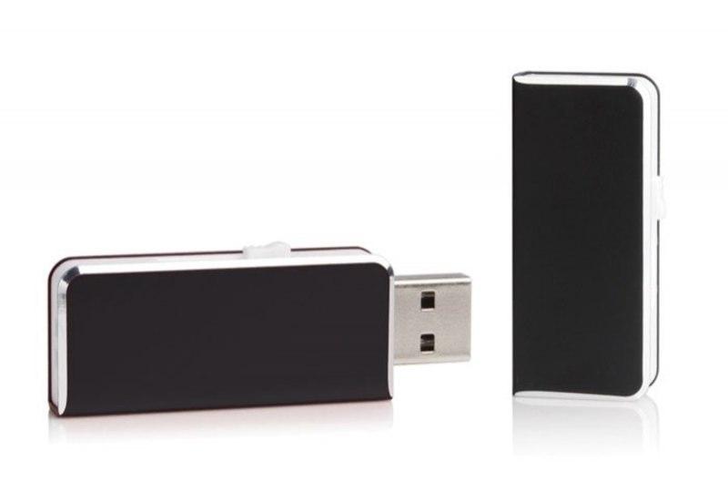 USB ALUMINIUM BLACK 47x20 mm