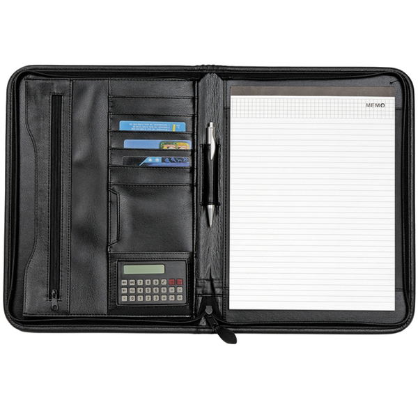 SIRACUSA document map with zipper,  black