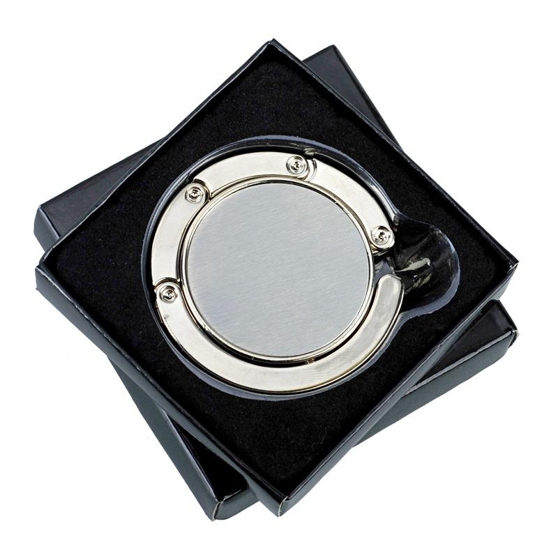GLAMOUR handbag folding hanger,  silver