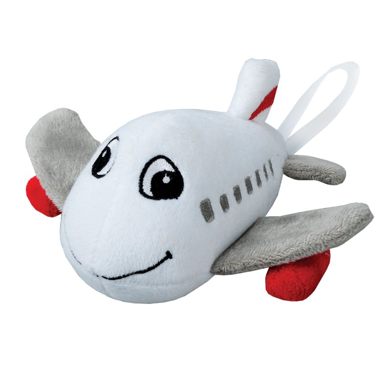 PLANE plush toy,  white