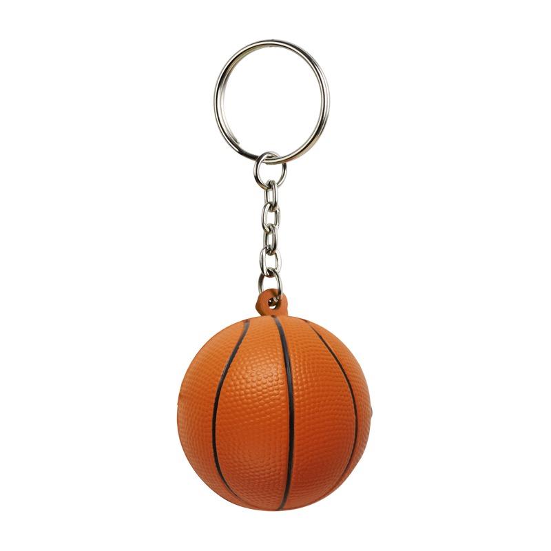 BASKET anti-stress toy key ring,  orange/black
