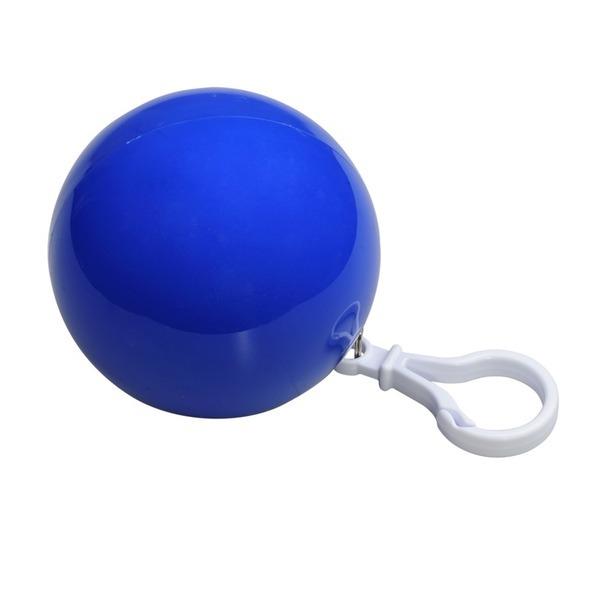 RAINCOAT foldable raincoat with key ring,  blue