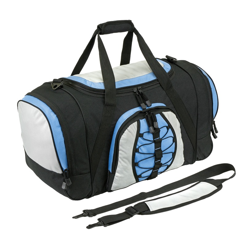 BEND travel bag,  black/light blue