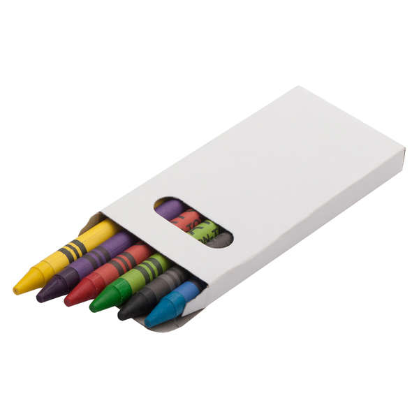 WAXIE set of wax crayons,  white