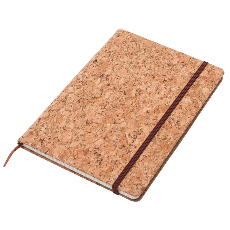 ROBLEDO notebook with squared pages 145x210 / 160 pages,  brown
