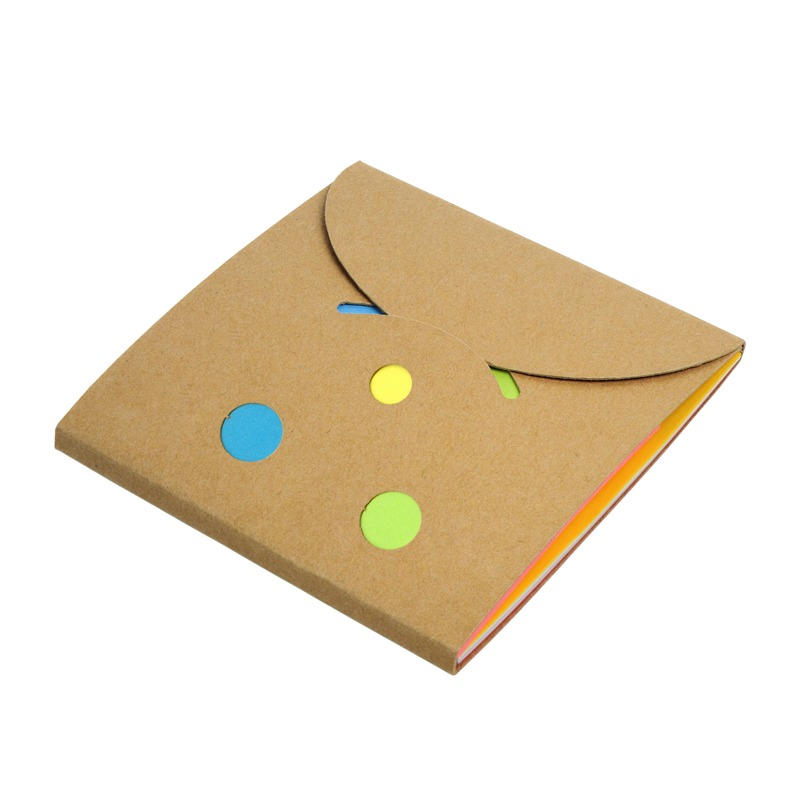 MEMO SMILE set of sticky notes,  brown