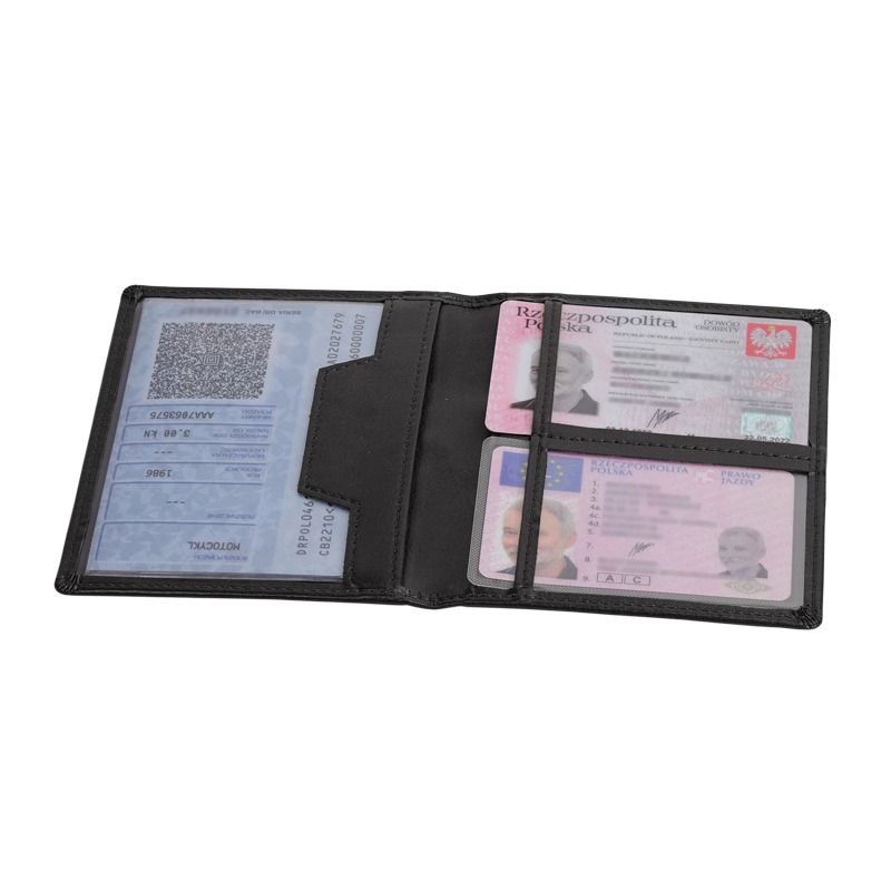 CLASSIC card and document case,  black