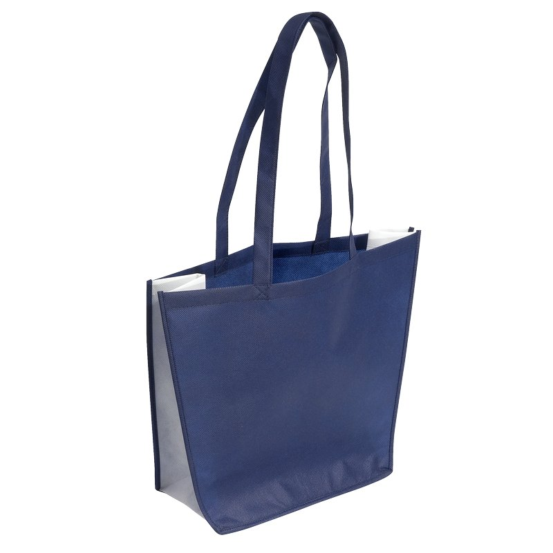 SHOPPING shopping and beach bag made of nonwoven fabric,  blue