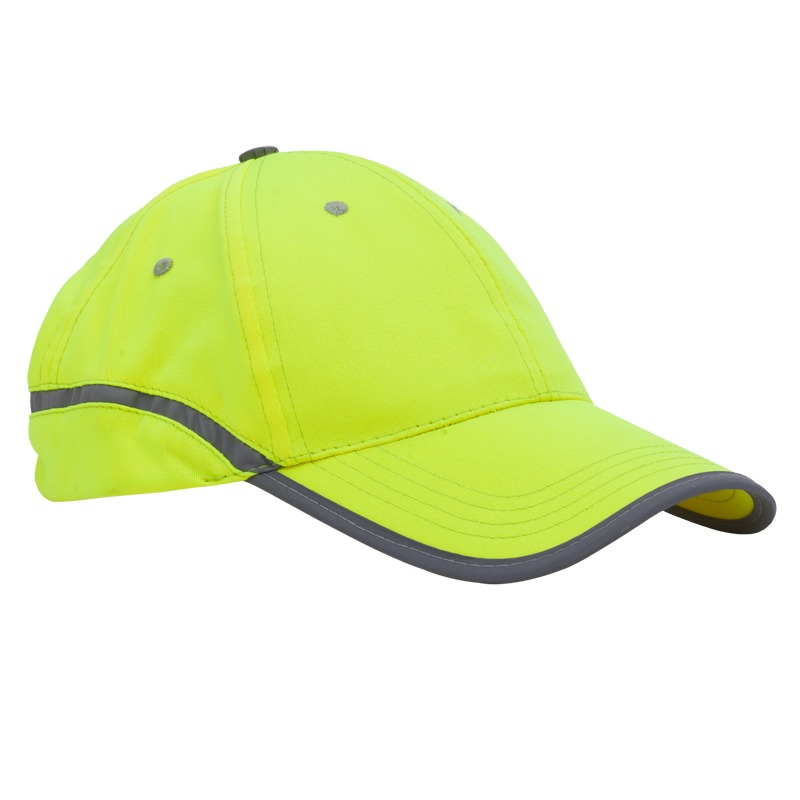 BE ACTIVE hat with reflective stripe,  yellow