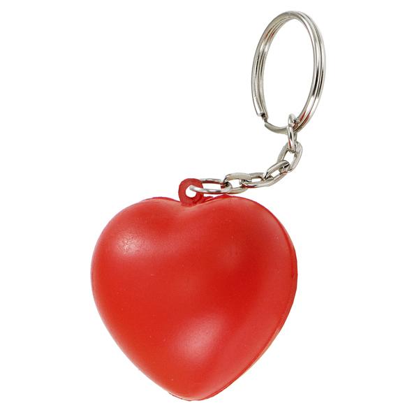 CUTE anti-stress toy key ring,  red