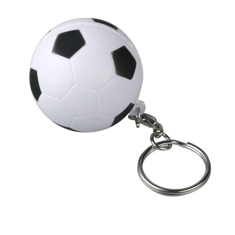 KICK&FUN anti-stress toy key ring,  white