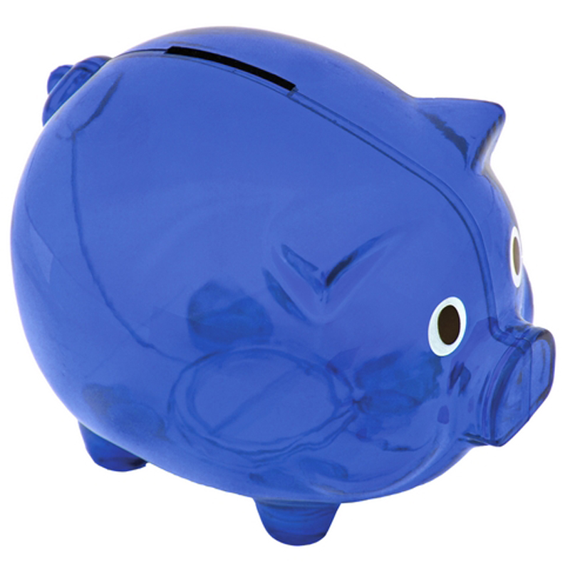 MONEYWISE money-box,  blue