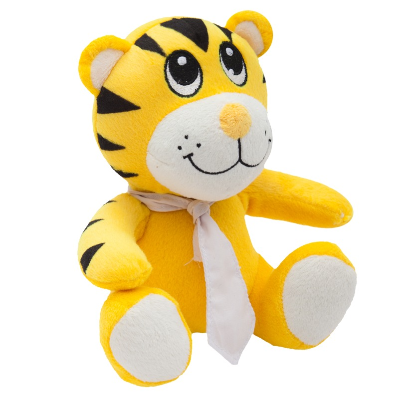 TIGER plush toy,  yellow
