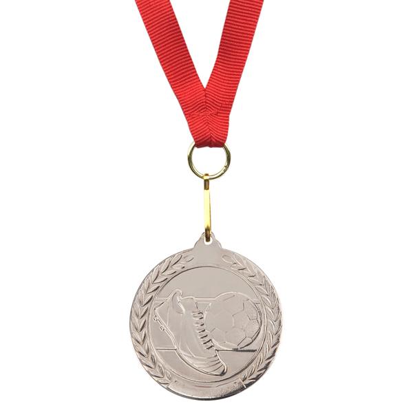 SOCCER WINNER medals,  silver