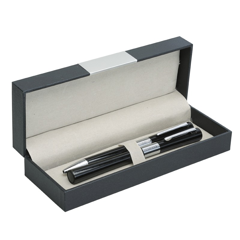 SANDGLASS gift set with ball and ceramic pen,  black