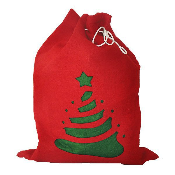 SANTA SACK Xmas gift sack, red