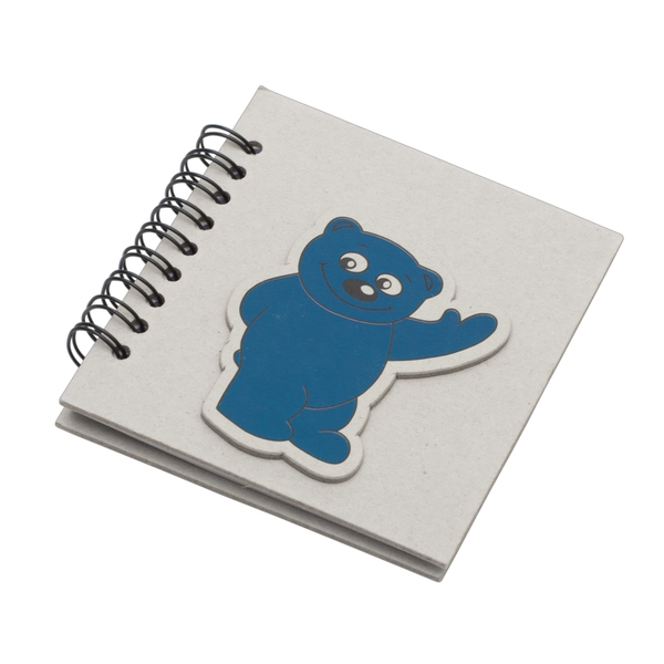 BLUE notebook with lined pages 87x97 / 100 pages,  grey/blue