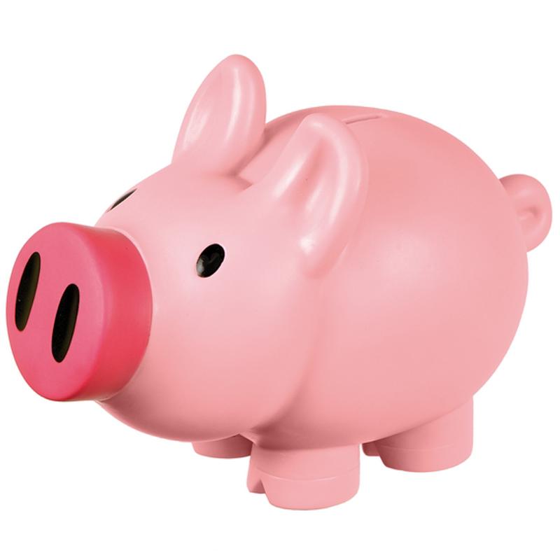 PIGGY money-box,  pink