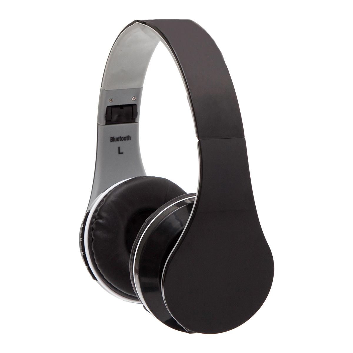 ON AIR headphones with FM radio,  black