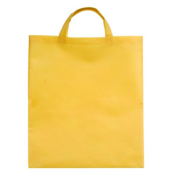 BASIC shopping bag made of nonwoven fabric,  yellow