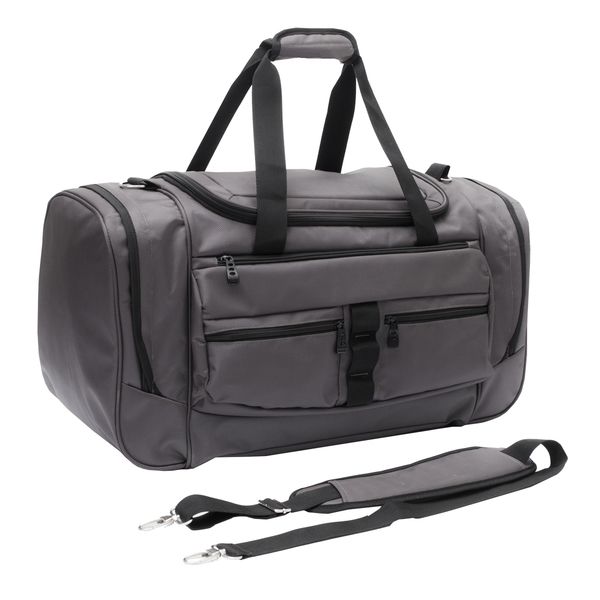 GRAY travel bag,  graphite