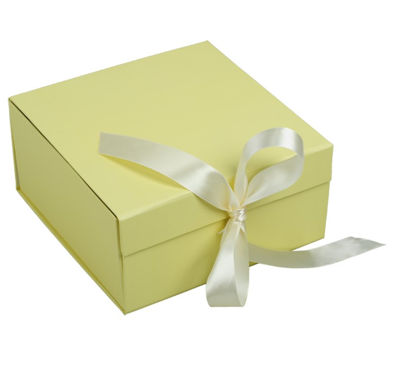 FOLDABLE gift box,  beige