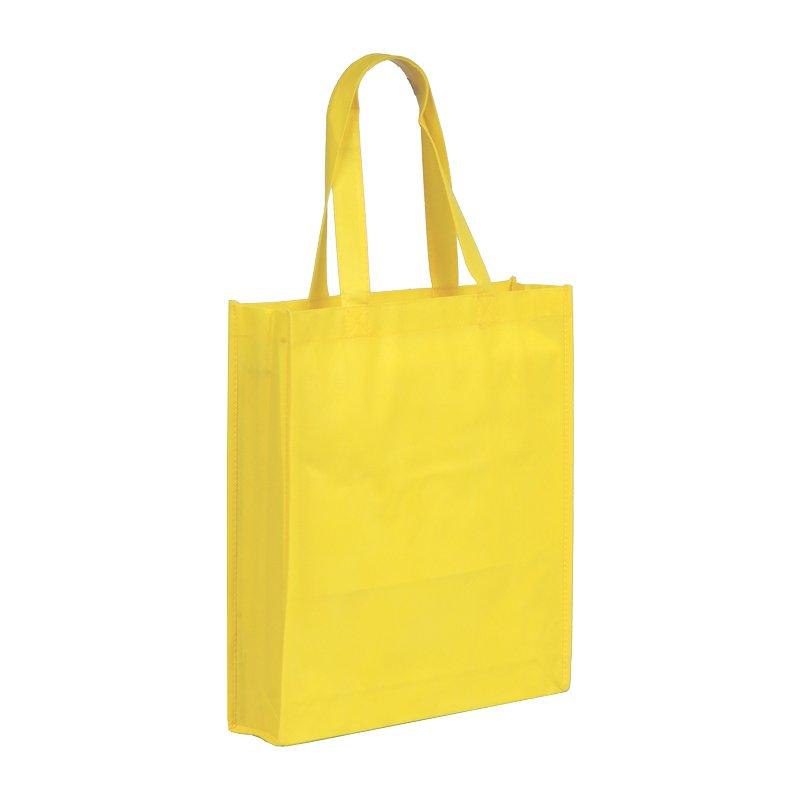 NON shopping bag made of nonwoven fabric,  yellow