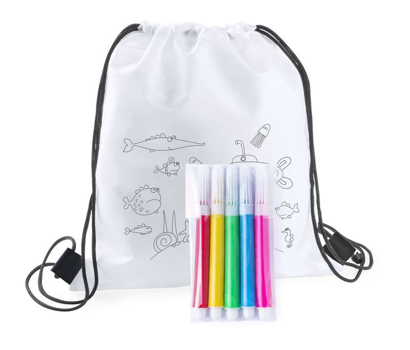 Backys colouring drawstring bag