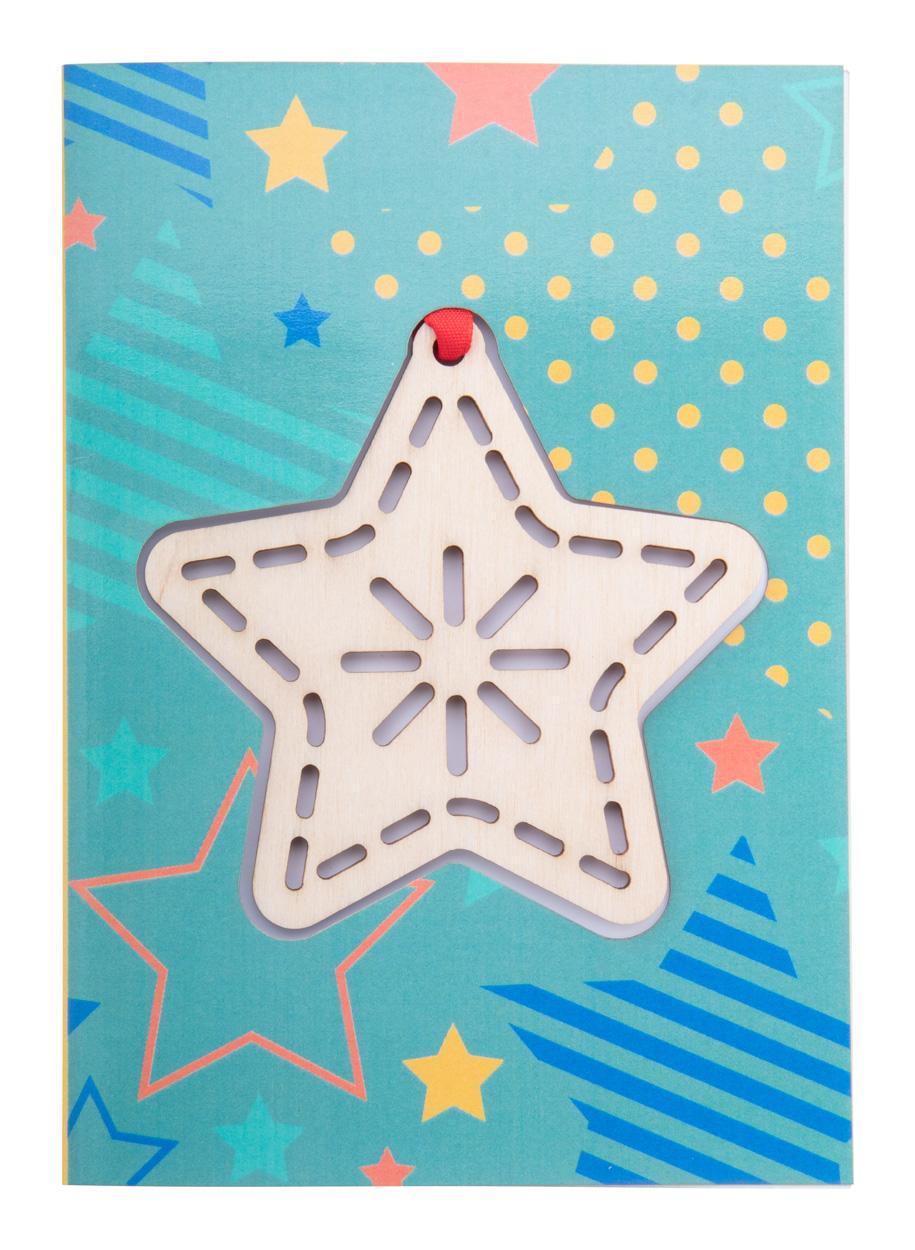 TreeCard Christmas card, star