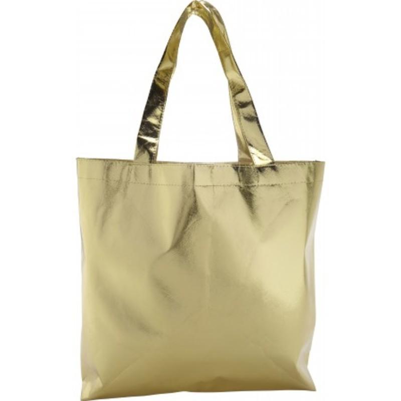 Nonwoven laminated shopping bag.
