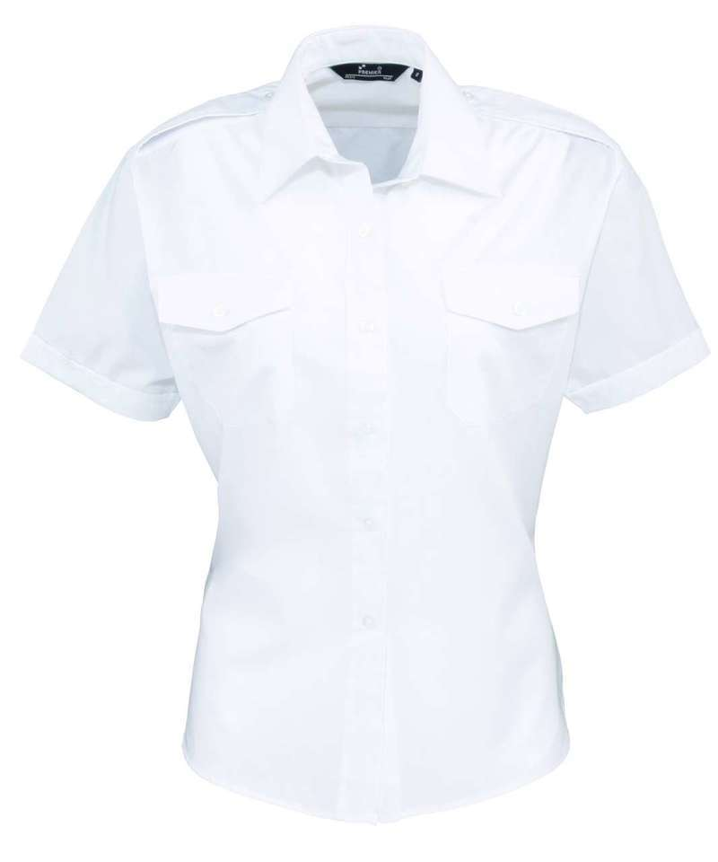 LADIES' SHORT SLEEVE PILOT SHIRT