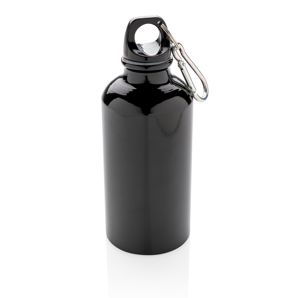 Aluminium reusable sport bottle with carabiner