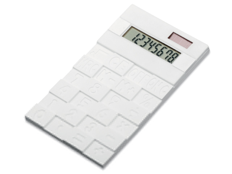 FUNIX dual calculator with 8 dial display, White