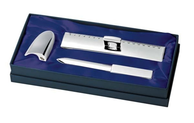 SET(3 pcs) RULER-LETTER OPENER-SHARPENER