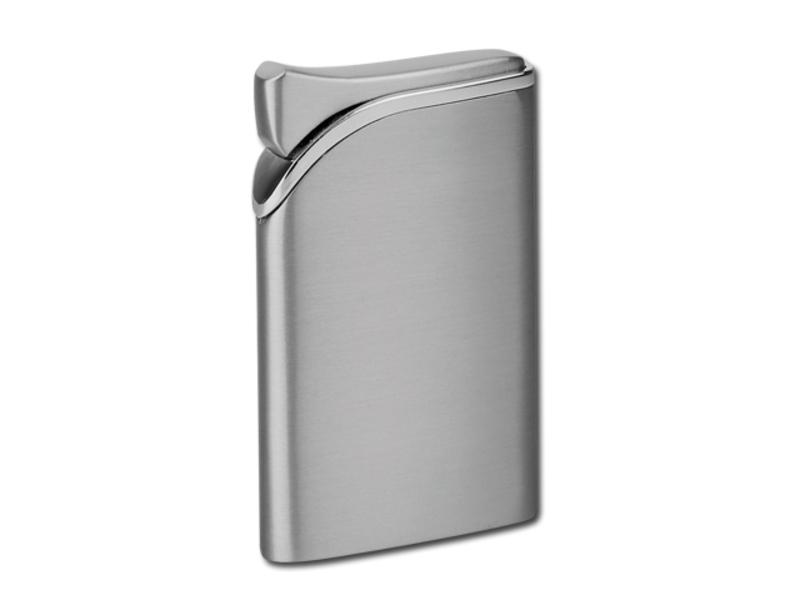 HARDY metal piezzo lighter, refillable, Satin silver