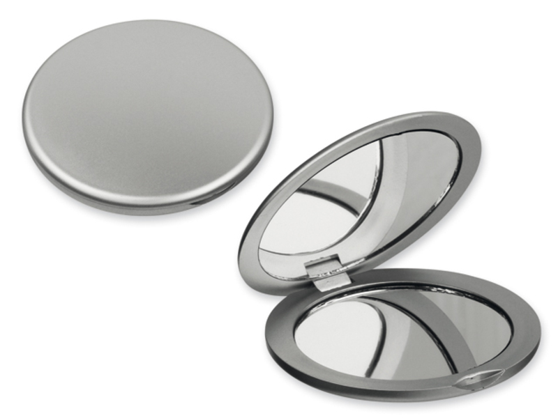 MEIRA pocket mirror, Satin silver