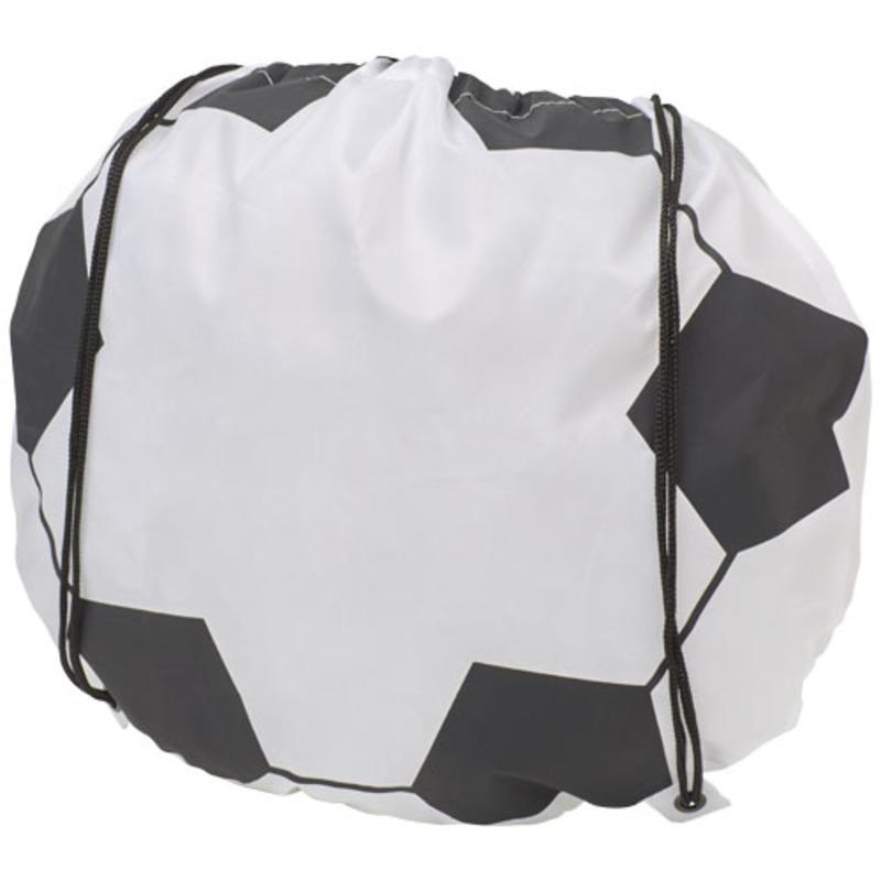 Penalty football-shaped drawstring backpack