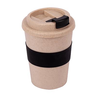 WHEATY 350 ml double wall eco mug, black