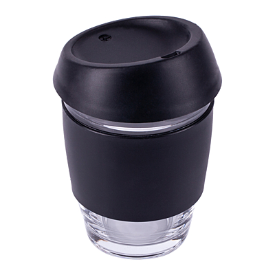 STYLISH glass cup 350 ml, black