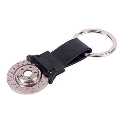 BRAKES metal key ring, silver