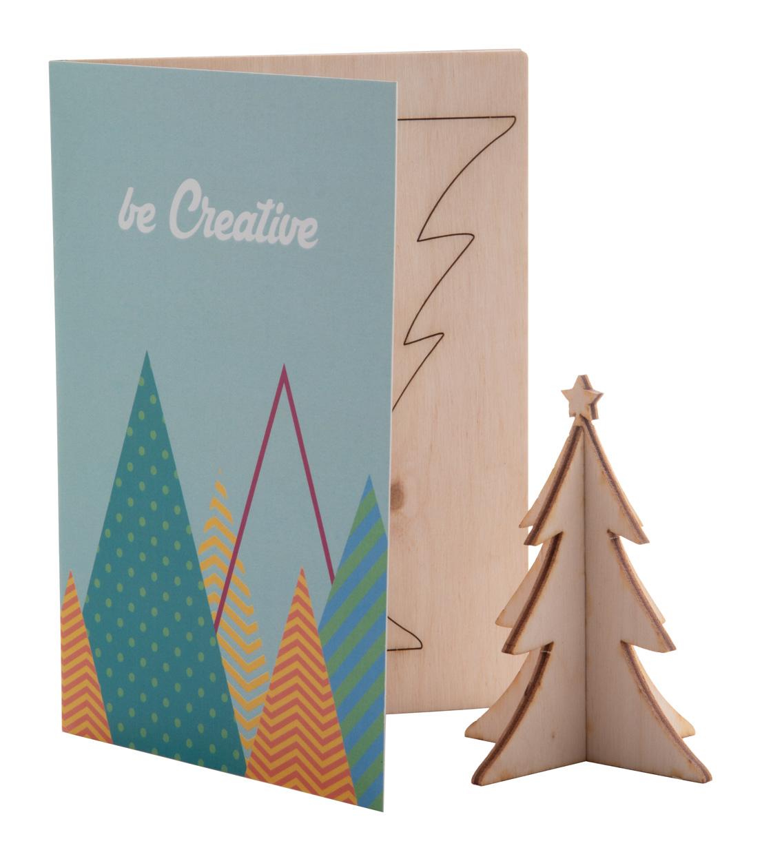 CreaX Christmas card, Christmas tree