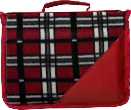 Fleece (150 gr/m²) blanket in pouch